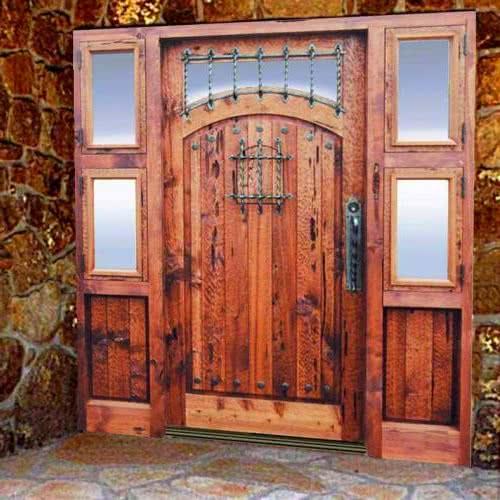 фото: распашные парадные двери