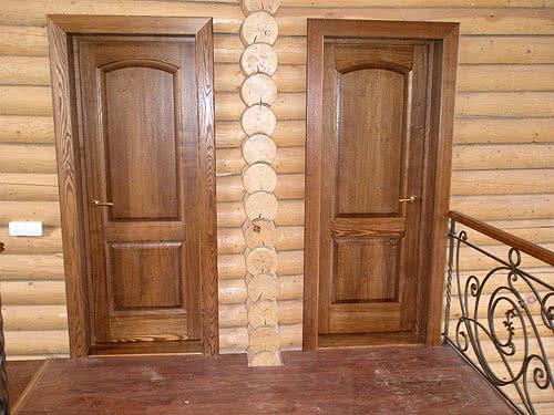 фото: дверь из ясеня