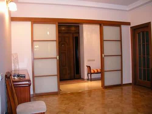 фото: как установить раздвижные двери