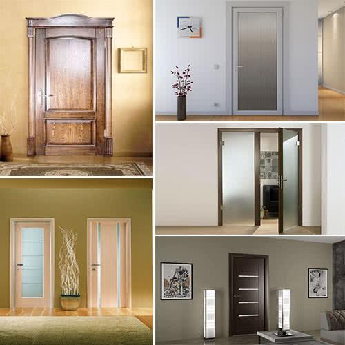 Фото: Межкомнатные двери по виду материала