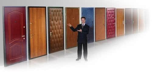фото: обивка металлических дверей