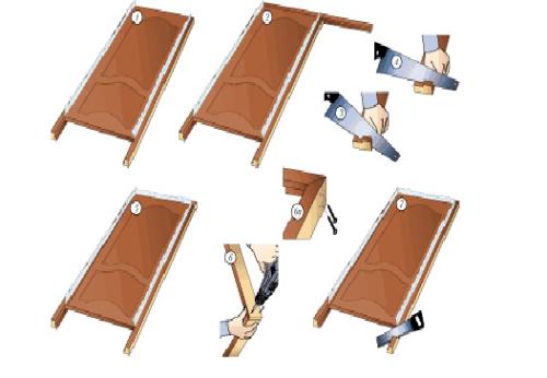 фото: Этапы сборки дверной коробки своими руками