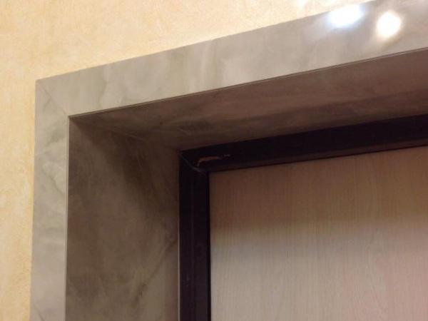 Отделка проема керамической плиткой