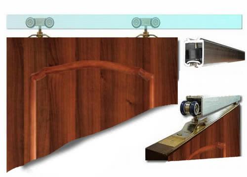 фото: крепление дверного полотна на ролики