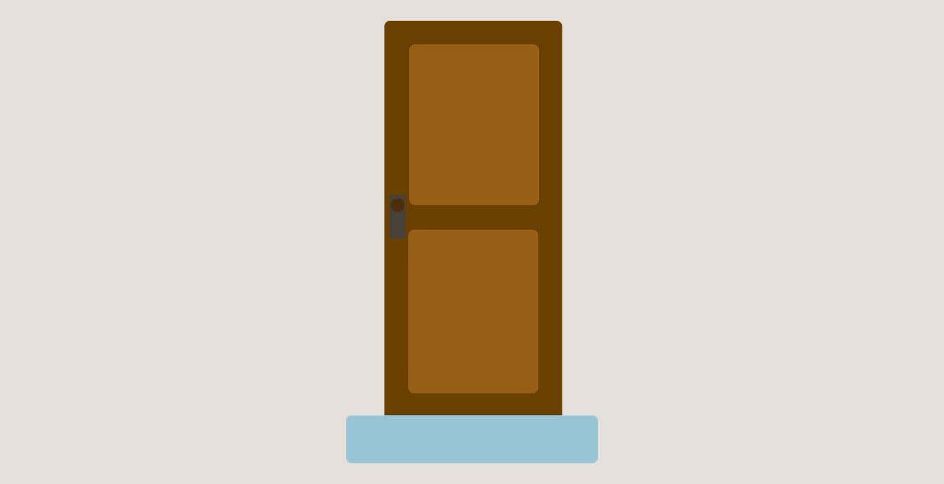 Простая деревянная дверь