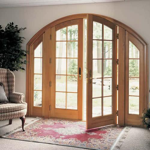 фото: арочная входная дверь