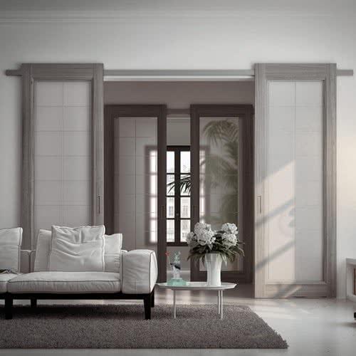 фото: Раздвижные двери помогают создать оригинальный дизайн