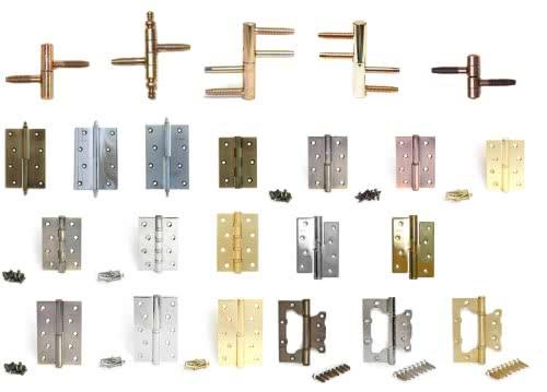фото: Ассортимент петлей для межкомнатных дверей